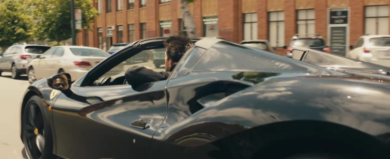 Ferrari Black Sports Car in Power by G-Eazy ft. Nef The Pharaoh, P-Lo (2018) Official Music Video Product Placement