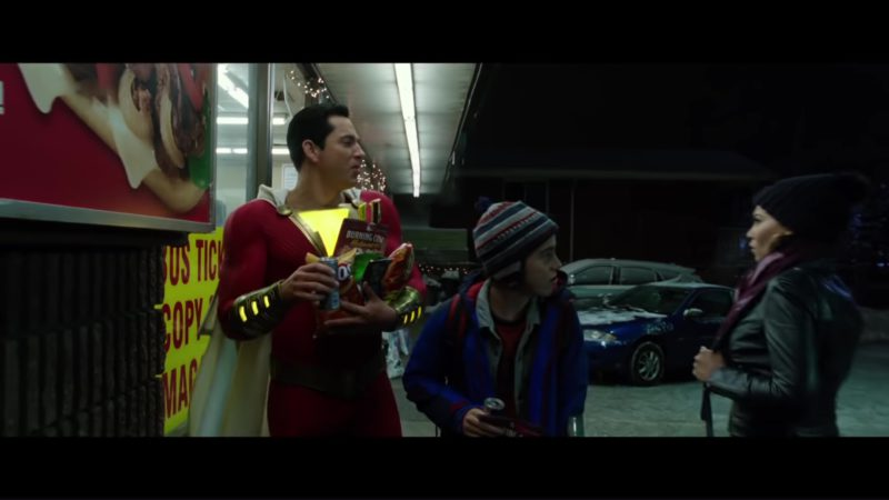 Fritos, Cheetos and Red Bull Drinks in Shazam! (2019) - Movie Product Placement