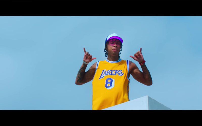 "Lakers Jersey in ""Taste"" by Tyga ft. Offset (5)"