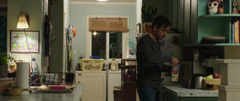 Land O'Lakes Half & Half Milk Held by Eugenio Derbez (Leonardo) in Overboard (2018) Movie Product Placement