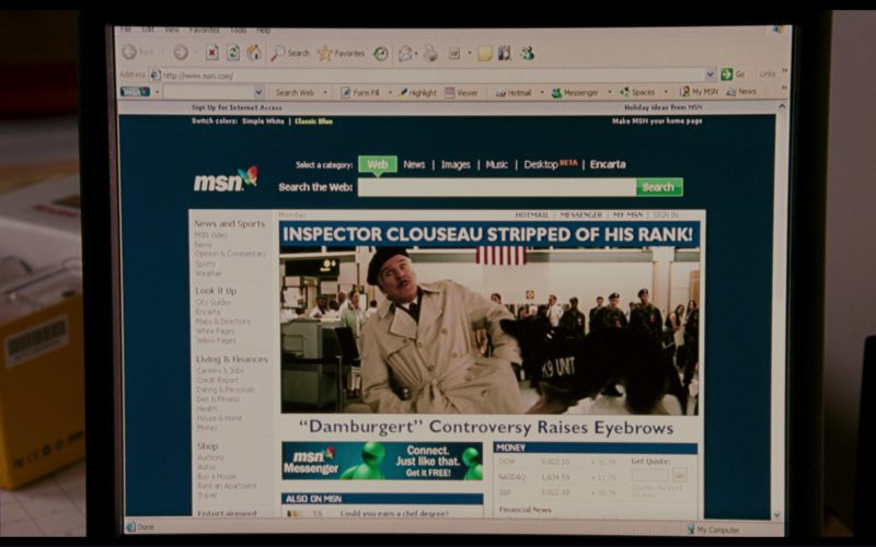 MSN Website in The Pink Panther