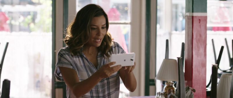 Microsoft Smartphone (White) Used by Eva Longoria in Overboard (2018) - Movie Product Placement