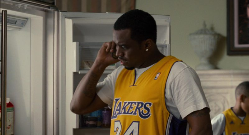 NBA Lakers Jersey Worn by Sean Combs in Get Him to the Greek (2010) - Movie Product Placement