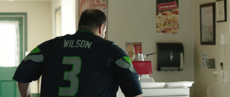 NFL Seattle Seahawks Blue Jersey Worn by Mel Rodriguez in Overboard (2018) Movie Product Placement