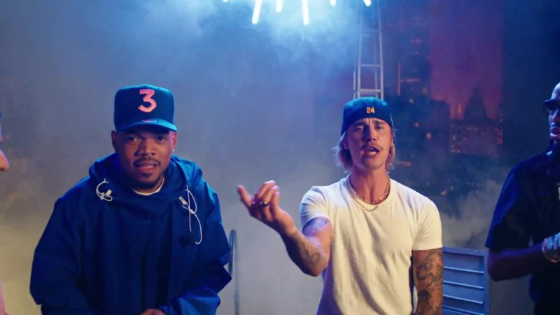 "New Era ""3"" Hat Worn by Chance the Rapper in ""No Brainer"" by DJ Khaled ft. Justin Bieber, Quavo (2018) Official Music Video Product Placement"
