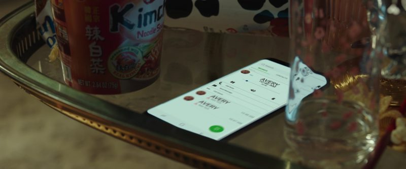 NongShim Kimchi Noodle Soup and Samsung Galaxy Smartphone in I Feel Pretty (2018) - Movie Product Placement