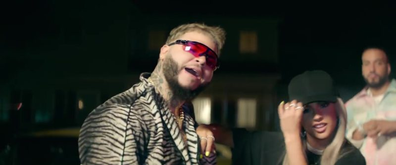 """Oakley Sunglasses (Black Frames & Red Lenses) Worn by Farruko in """"Zooted"""" by Becky G ft. French Montana (2018) - Official Music Video Product Placement"""