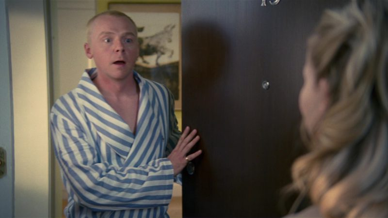 Ralph Lauren Robe Worn by Simon Pegg in How to Lose Friends & Alienate People (2008) Movie Product Placement