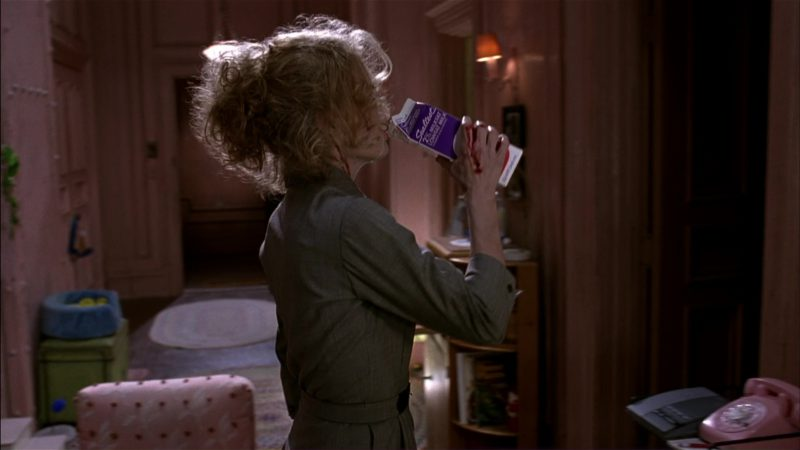 Sealtest Dairy Milk Pack Held by Michelle Pfeiffer (Catwoman) in Batman Returns (1992) Movie Product Placement
