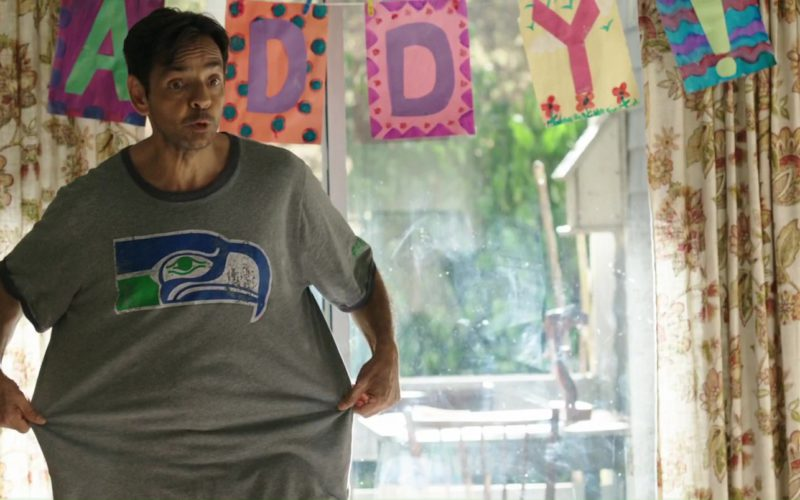 Seattle Seahawks Grey T-Shirt Worn by Eugenio Derbez in Overboard (1)