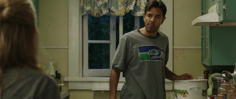Seattle Seahawks Grey T-Shirt Worn by Eugenio Derbez in Overboard (2018) - Movie Product Placement