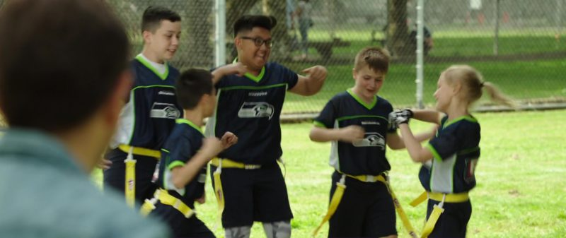 Seattle Seahawks Kidswear in Overboard (2018) Movie Product Placement