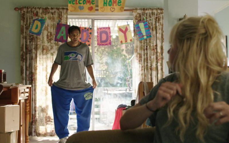 Seattle Seahawks T-Shirt and Blue Pants Worn by Eugenio Derbez in Overboard (1)