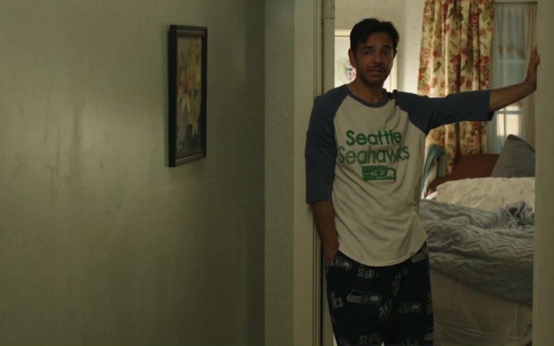 Seattle Seahawks Tee and Pants Worn by Eugenio Derbez in Overboard (1)