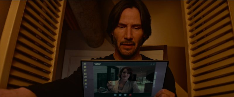 Skype Used by Keanu Reeves in Siberia (2018) Movie Product Placement