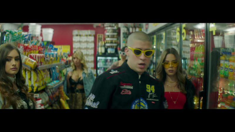 Supreme Jacket And Wise Foods Worn By Bad Bunny In