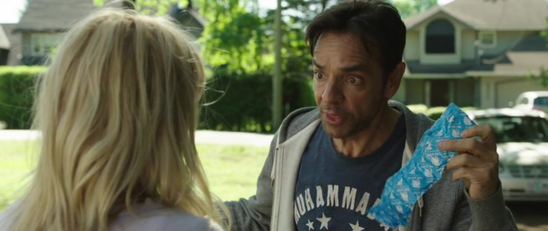 Trojan Condoms Held by Eugenio Derbez in Overboard (2018) - Movie Product Placement