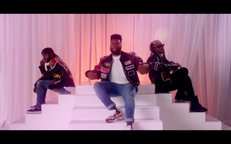 Vanson Leather Jacket and Nike Sneakers Worn by Khalid