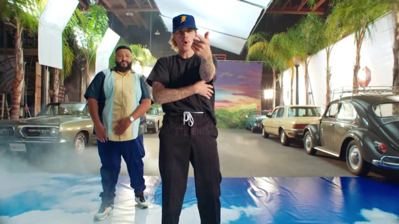 "Vetements Pants (Black) Worn by Justin Bieber in ""No Brainer"" by DJ Khaled ft. Chance the Rapper, Quavo (2018) - Official Music Video Product Placement"