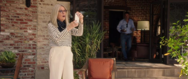 Apple iPhone Smartphone Used by Diane Keaton in Book Club (2018) Movie Product Placement