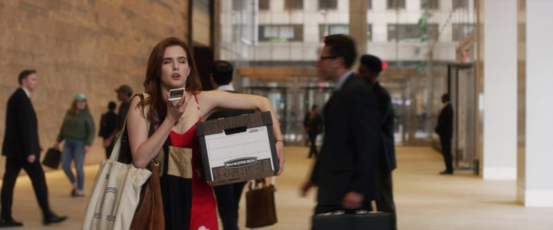Bankers Box Held by Zoey Deutch in Set It Up (2018) Movie
