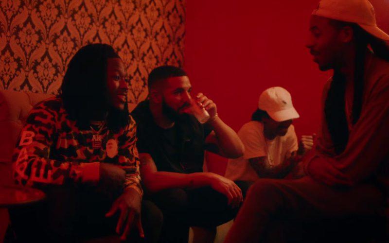 Bape (A Bathing Ape) Camo Sweatshirt in In My Feelings by Drake (1)