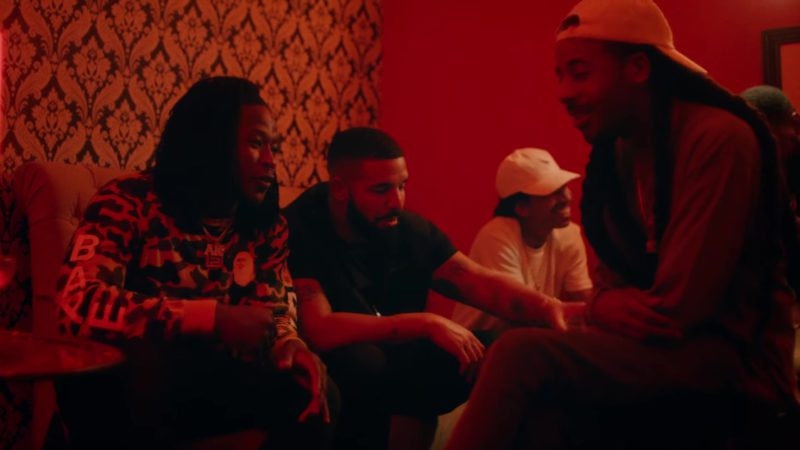 """Bape (A Bathing Ape) Camo Sweatshirt in """"In My Feelings"""" by Drake (2018) Music Video Product Placement"""