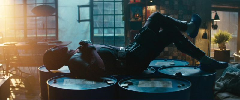 Blue Crocs Worn by Ryan Reynolds in Deadpool 2 (2018) Movie Product Placement