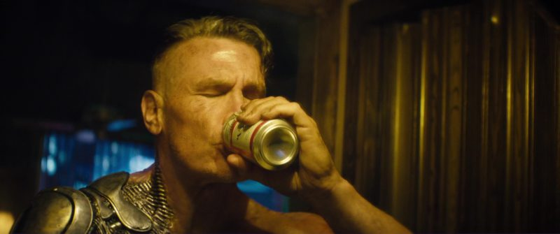 Budweiser Beer Drunk by Josh Brolin (Cable) in Deadpool 2 (2018) Movie Product Placement