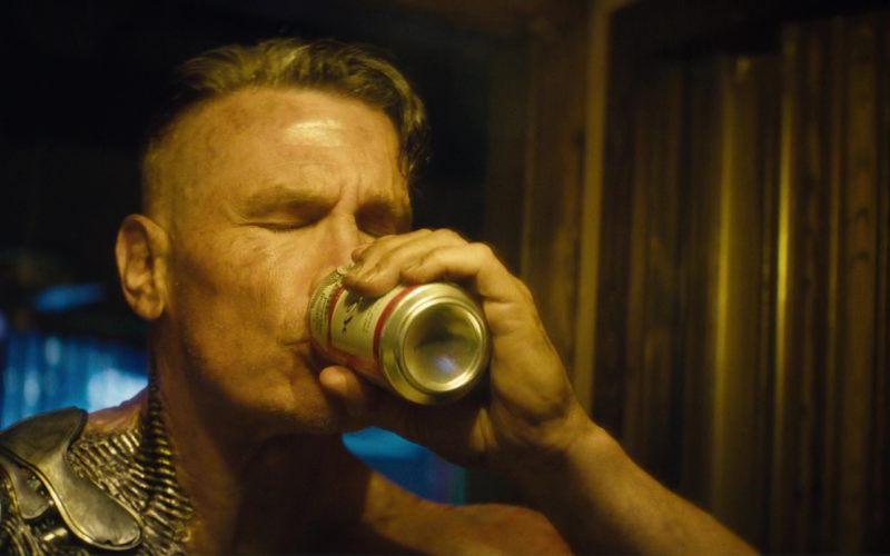 Budweiser Beer Drunk by Josh Brolin (Cable) in Deadpool 2 (1)