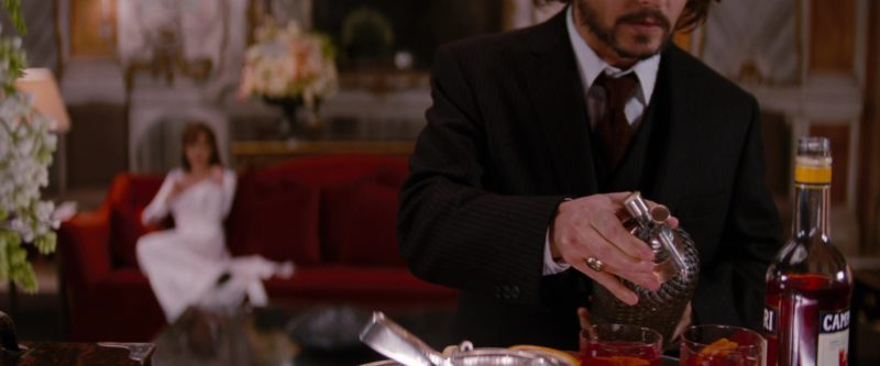 Campari Liqueur Drunk by Angelina Jolie and Johnny Depp in The Tourist (2010) - Movie Product Placement
