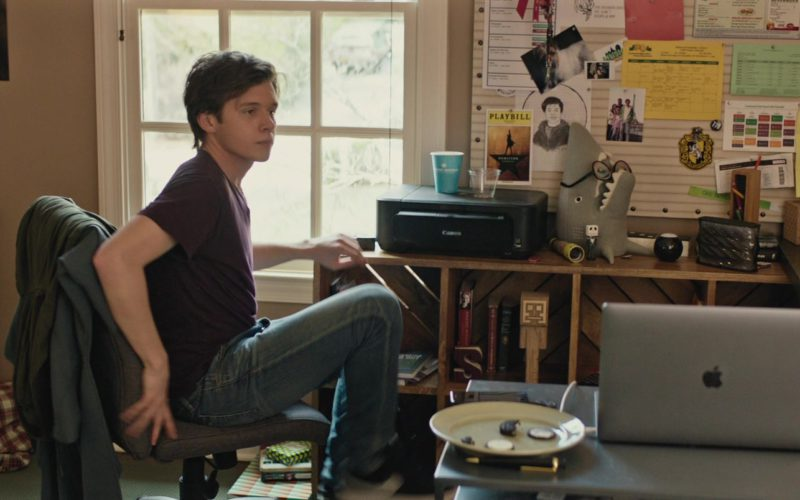 Canon Printer and MacBook Laptop Used by Nick Robinson in Love, Simon