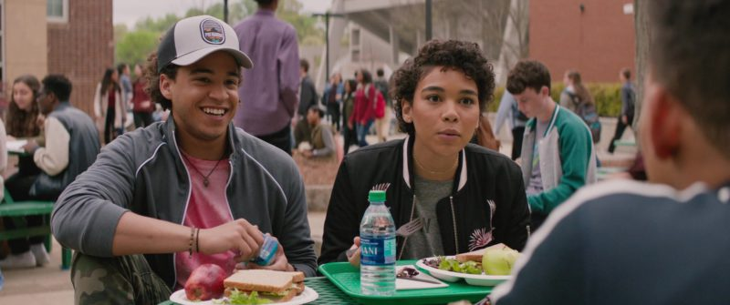 Dasani Water and Patagonia Cap Worn by Jorge Lendeborg Jr. in Love, Simon (2018) Movie Product Placement