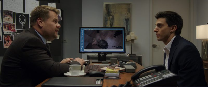 Dell Monitor Used by James Corden in Ocean's 8 (2018) Movie Product Placement