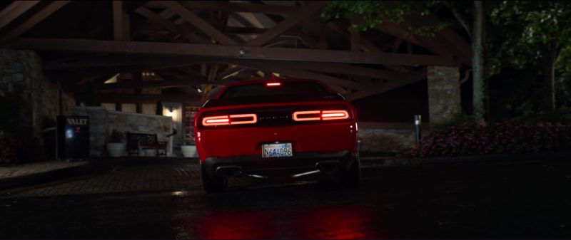 Dodge Challenger SRT 392 (Red) Car Driven by Jeremy Renner in Tag (2018) Movie Product Placement