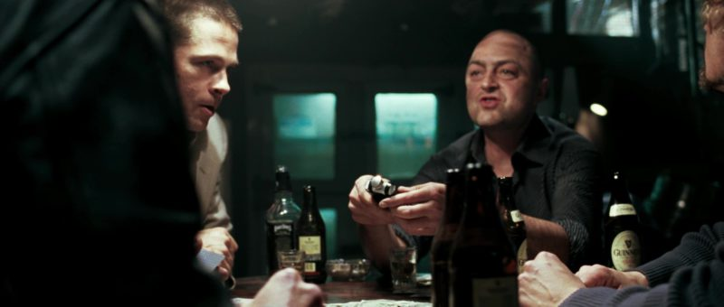 Early Times Whisky and Guinness Beer Bottles in Mr. & Mrs. Smith (2005) Movie Product Placement