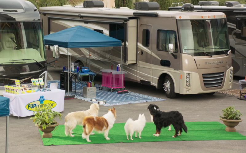 FURminator and Winnebago Motorhome in Show Dogs