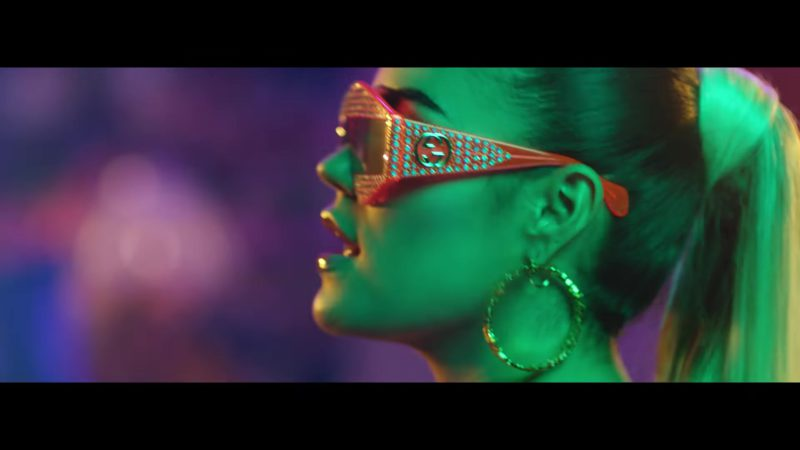 "Gucci Sunglasses Worn by Karol G in ""Mi Cama"" (Remix, 2018) Latin Music Video Product Placement"