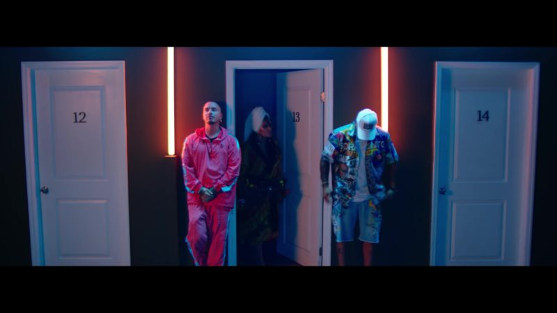 "Guess Jacket and Pants (Tracksuit) Worn by J Balvin in ""Mi Cama"" (Remix, 2018) Latin Music Video Product Placement"