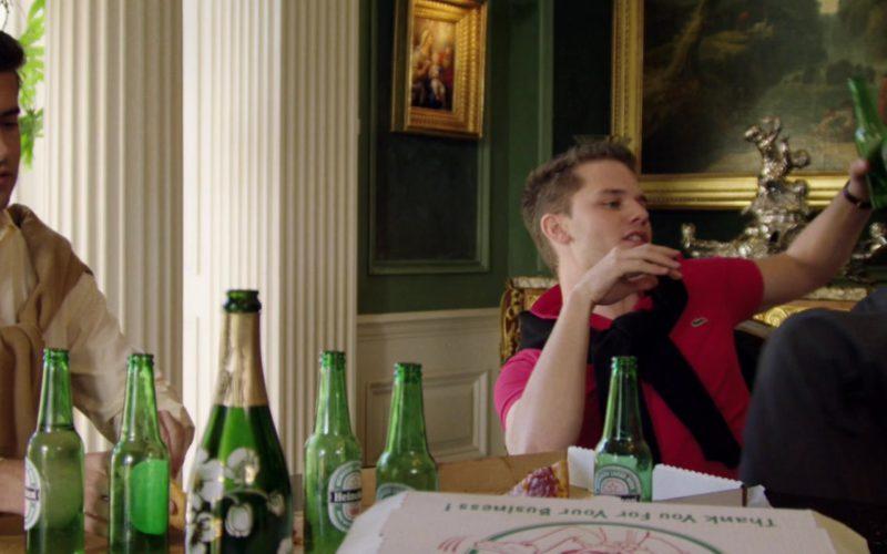 Heineken Beer and Lacoste Polo Shirt Worn by Jeremy Irvine in Billionaire Boys Club (1)