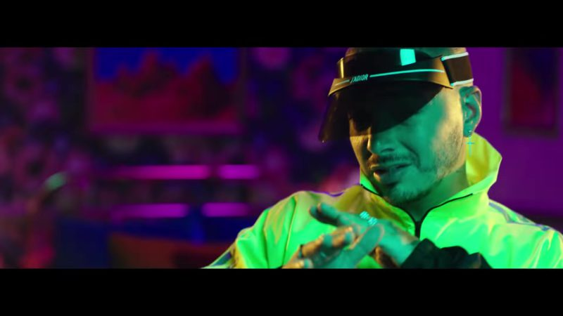 "J'adior Visor Worn by J Balvin in ""Mi Cama"" (Remix, 2018) Latin Music Video Product Placement"