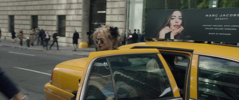 Marc Jacobs Beauty and Sephora Store Taxi Advertising in Ocean's 8 (2018) Movie Product Placement