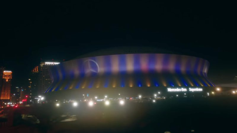 "Mercedes-Benz Superdome Multi-Purpose Retractable Roof Stadium in ""In My Feelings"" by Drake (2018) Official Music Video Product Placement"