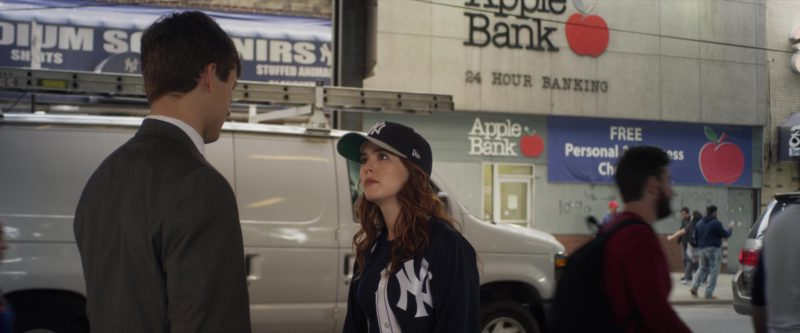 Yankees Jacket and New Era Cap Worn by Zoey Deutch in Set It Up (2018) Movie Product Placement