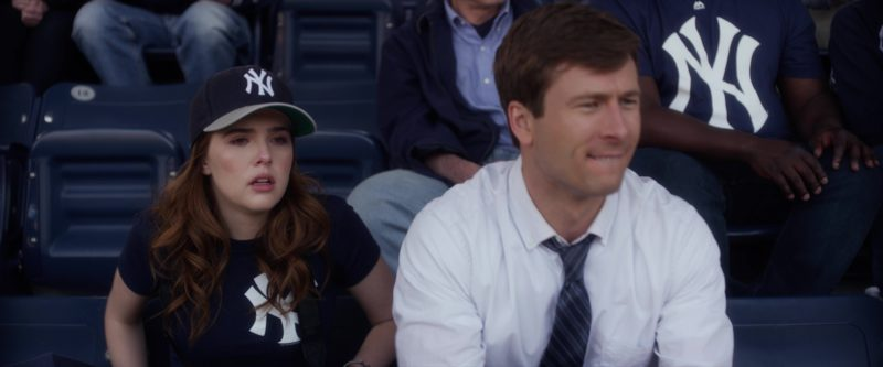 Yankees T-Shirt and New Era Cap Worn by Zoey Deutch in Set It Up (2018) - Movie Product Placement