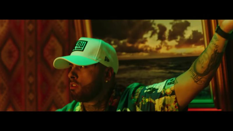 "New Era Cap Worn by Nicky Jam  in ""Mi Cama"" (Remix, 2018) Latin Music Video Product Placement"