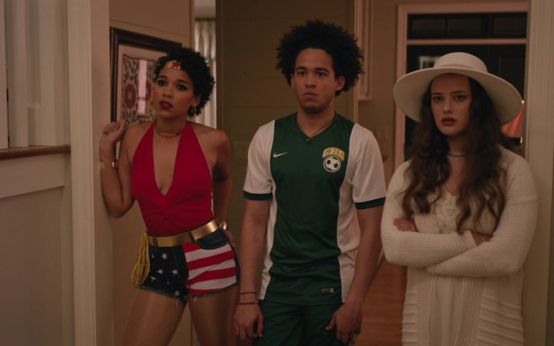 Nike Soccer T-Shirt and Green Shorts Worn by Jorge Lendeborg in Love, Simon (5)