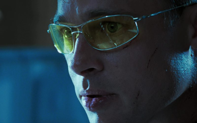 Oliver Peoples Nitro Glasses With Yellow Lenses Worn by Brad Pitt in Mr. & Mrs. Smith (11)