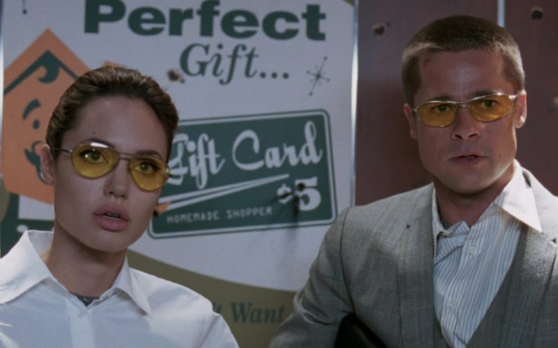 Oliver Peoples Nitro Sunglasses (Yellow Lenses) Worn by Angelina Jolie and Brad Pitt in Mr. & Mrs. Smith (8)