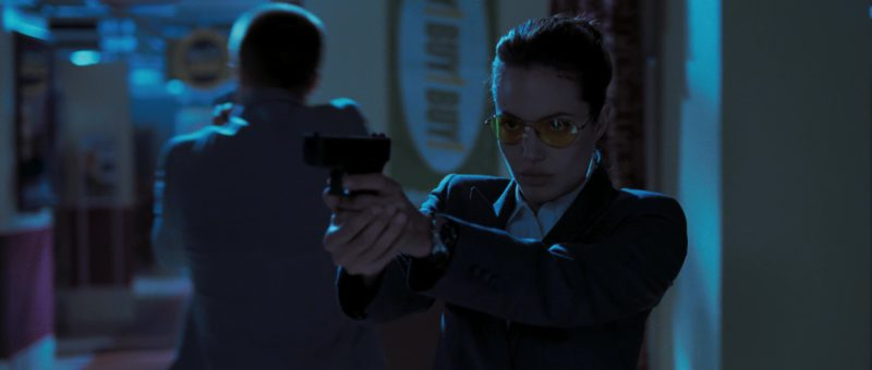 Oliver Peoples Nitro Sunglasses (Yellow Lenses) Worn by Angelina Jolie in Mr. & Mrs. Smith (2005) Movie Product Placement